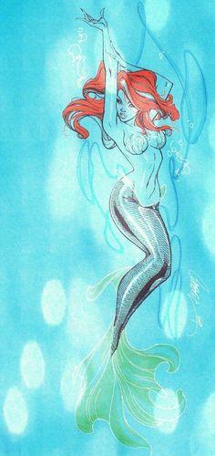 Little Mermaid - J. Scott Campbell  Auction your comics on http://www.comicbazaar.co.uk