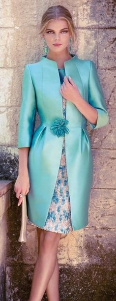 Carla Ruiz 2014 Could work as other of the bride outfit. Suit Fashion, Womens Fashion, Mode Glamour, Coast Dress, Mode Inspiration, Beautiful Dresses, Evening Dresses, Dress Up, Dress Lace