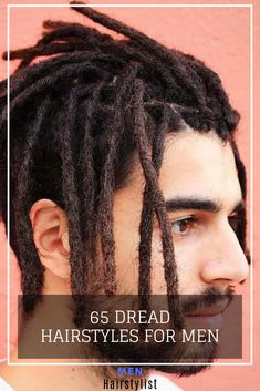 Discover the most trending dreadlock hairstyles for men and learn how to style one Dreadlock Hairstyles For Men, Braided Hairstyles, Cool Hairstyles, Dreads Styles, Braid Styles, Short Dreads, Long Length Hair, Lock Style, Hair Locks