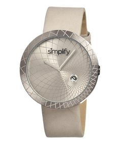 $59.99 Orig. $275.00 ~  Pewter & Gray The 1800 Unisex Watch by Simplify — up to 75% off
