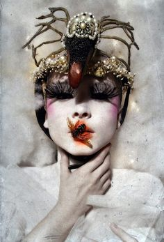Art Photographer: Darla Teagarden Model Camille Nicole MUAH Jill Ventimiglia Swan Piece by Candice Angelini