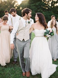 relaxed bridal party photo