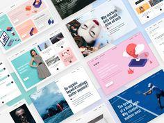 Universitet headers  by Flatstudio #Design Popular #Dribbble #shots