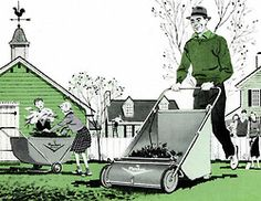 Parker Lawn Sweeper - 1956