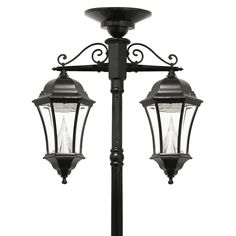 """<p style=""""text-align: justify;"""">The Gama Sonic Victorian <strong>GS-94C-D </strong>solar lamp post with downward hanging double lamp heads will illuminate your pathway and is the perfect energy-saving and money-saving replacement for electric or gas-powered outdoor lighting.</p>  <ul> <li style=""""text-align: justify;""""><strong>Easy Solar DIY Solution</strong>: This Victorian solar outdoor light fixture comes with all the hardware needed for mounting this unit anywhere you choose where ampl..."""