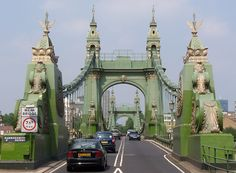 Hammersmith Bridge. I used to ride over this every day to school.