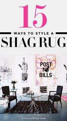 Home decor inspiration - 15 ways to decorate around a shag rug