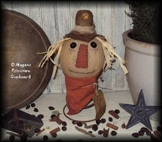 free images to make primitive dolls | for your consideration is this primitive fall scarecrow make do doll ...