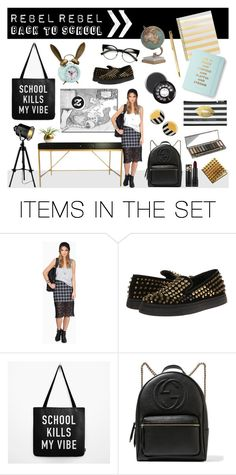 """""""Back To School: Rebel Rebel"""" by cyanskycelebrations ❤ liked on Polyvore featuring art, school and zazzle"""