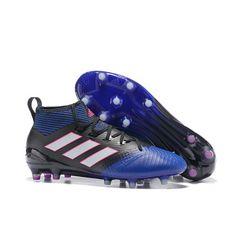 Adidas ACE 17.1 FG Mens Football Shoes Blue Black White Purple Chuteiras a2cf7930016ad