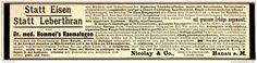 Original-Werbung/ Anzeige 1897 - DR.HOMMEL'S HAEMATOGEN / NICOLAY - HANAU - ca. 190 x 45 mm