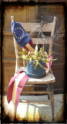 Primitive Americana Chair from Country Craft House.