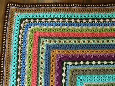stitch sampler afghan - Google Search