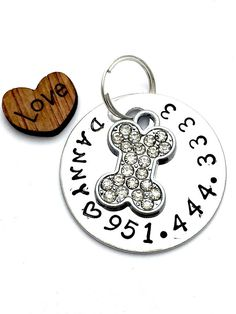 Charms Double Sided Bling Gold Color Plated Emotional support Animal 2 E.S.A Fancy Dog Tag E.S.A Service Dog