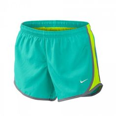 #LacrosseUnlimited Nike Girls Tempo Youth Lacrosse Short In Teal. #lacrosse #youth #nike
