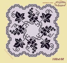 Filet Crochet Charts, Fillet Crochet, Cross Stitch Samplers, Crochet Doilies, Holidays And Events, Smocking, Diy And Crafts, Mosaic, Crochet Patterns