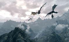 Skyrim Dragon HD Wallpaper