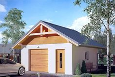 Projekt G2-4.12a Bungalow House Plans, Bungalow House Design, Country Modern Home, Facade House, Home Design Plans, Wood Construction, Planer, Shed, Outdoor Structures