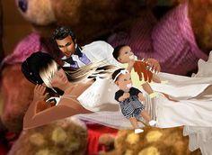 con nuestros hijos..jajjajaa
