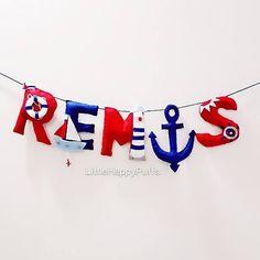 Nautical Theme Name banner Ahoy! Home is where the Anchor drops! #Marine