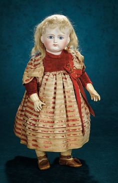 Forever Young - Marquis Antique Doll Auction: 74 Beautiful French Bisque Blue-Eyed Bebe by Schmitt et Fils