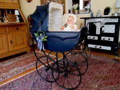 Raritaet-alter-traumschoener-Puppenwagen-v-Phoenix-um-1900-Kinderwagen
