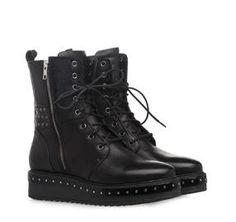 ΓΥΝΑΙΚΕΙΑ ΜΠΟΤΑΚΙΑ SAGIAKOS (BLACK) Winter 2017, Fall Winter, Combat Boots, Brand New, Hot, Women, Fashion, Moda, Fashion Styles