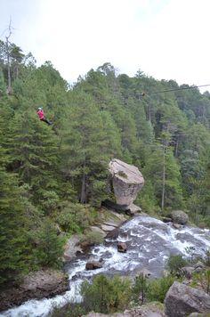 Tirolesa en la cascada mexiquillo