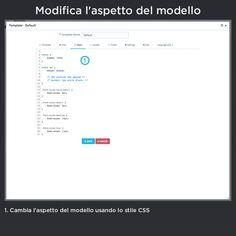 Modifica l'aspetto del modello, cambia l'aspetto del modello usando lo stile CSS.