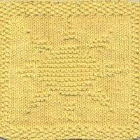 Sun dishcloth Designed by Emily Jagos. Find the free knitted dishcloth pdf pattern here: link