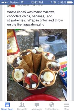 Yummy!  Camping desert made easy.