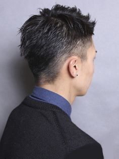 大人のフレンチソフトモヒカン Asian Haircut, Asian Men Hairstyle, Undercut Hairstyles, Cool Hairstyles, Men's Hairstyle, Asian Short Hair, Short Hair Cuts, Hair Again, Haircuts For Men