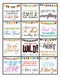 Giggle and Print: FREE Printable LOVE Notes for Your Sweetie!