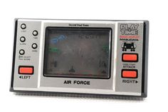 "80s Retro Masudaya LCD Game Watch ""Play & Time"" Air Force MIJ Good Condition_35 #Masudaya"
