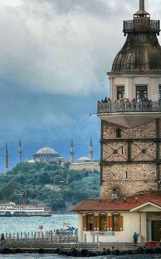 Kız kulesi, Maiden Tower Bosphorus, İstanbul, TÜRKİYE