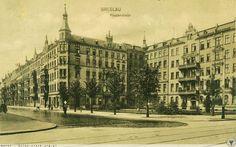 Rok 1913 .Ulica Piastowska od ul. Sienkiewicza, właściwie nic się nie zmieniło...