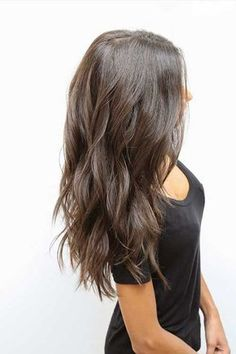 Thick Long Hair with Choppy Cuts