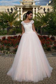 Powder rose wedding dress Kristal2 - Tina Valerdi 2017