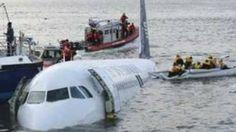 US Airways plane crash on the Hudson River, via YouTube.