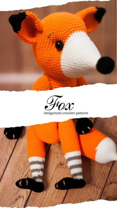 Crochet Dinosaur Patterns, Baby Patterns, Crochet Patterns, Crochet Fox, Cute Crochet, Doll Toys, Dolls, Baby Dinosaurs, Fox Pattern