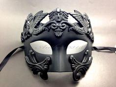Black Roman Greek Warrior Venetian Mardi Gras Masquerade Prom Party Mask $18.85 + $2.95 shipping