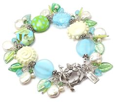 20+Percent+Off+Lampwork+Button+Bracelet+with+by+hippkittybeads,+$147.88