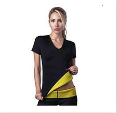 Women Hot Neoprene Body Shaper Vest Tops Shirt Slimming Tops Slim Yoga Weight Loss TShirt >>> You can find more details by visiting the image link.