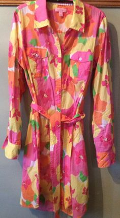 Cute LILLY PULITZER Resort Fit Button Front Dress Sz S #LillyPulitzer #ShirtDress
