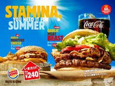 Burger King is celebrating 60 years, which includes several starts and stops in Japan. Hamburger Pizza, Homemade Bbq Sauce Recipe, A Food, Food And Drink, Fast Food Menu, Food Menu Design, Food Science, Menu Restaurant, The Best