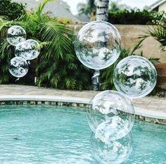Set of 10 balloons – and clear balloon – bubble balloon – bobo balloons – transparent balloon - Pool Party Transparent Balloons, Clear Balloons, Round Balloons, Bubble Balloons, Helium Balloons, Confetti Balloons, Balloon Garland, Helium Tank, Rustic Wedding Decorations