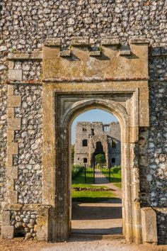 15th century Baconsthorpe Castle, Looking through the outer gatehouse entrance…