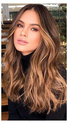 Balayage Hair Caramel, Hair Color Caramel, Brown Hair Balayage, Brown Blonde Hair, Hair Color Balayage, Black Hair, Balyage Caramel, Caramel Hair With Brown, Ginger Brown Hair