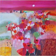 Emma Davis; Poppy Field, Tuscany (Limited Edition Print)