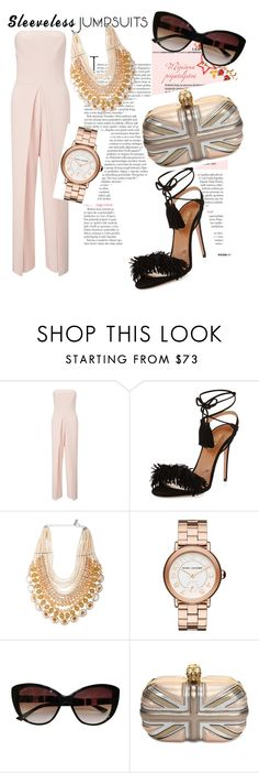 """Sans titre #87"" by samissan ❤ liked on Polyvore featuring Miss Selfridge, Aquazzura, NIGHTMARKET, Marc Jacobs, Bulgari, Alexander McQueen and sleevelessjumpsuits"